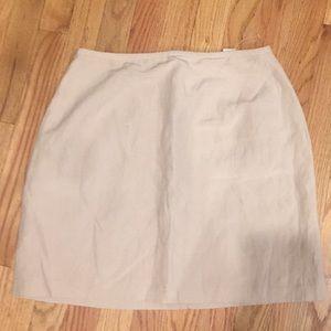 Brand New!! Ann Taylor Loft Beige Mini Skirt Sz10